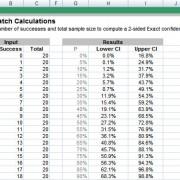Batch Confidence Intervals (Exact)