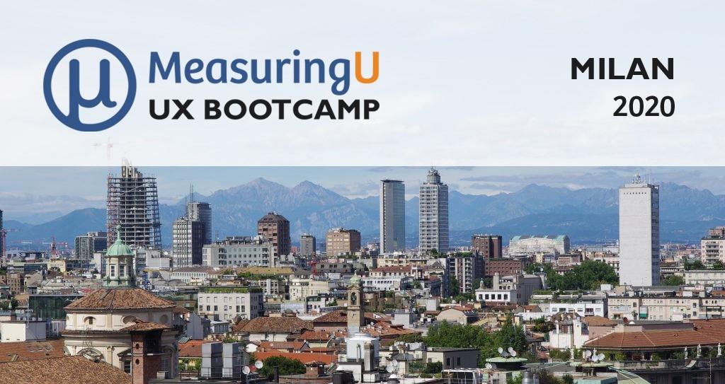 UX Measurement Bootcamp: Milan 2020
