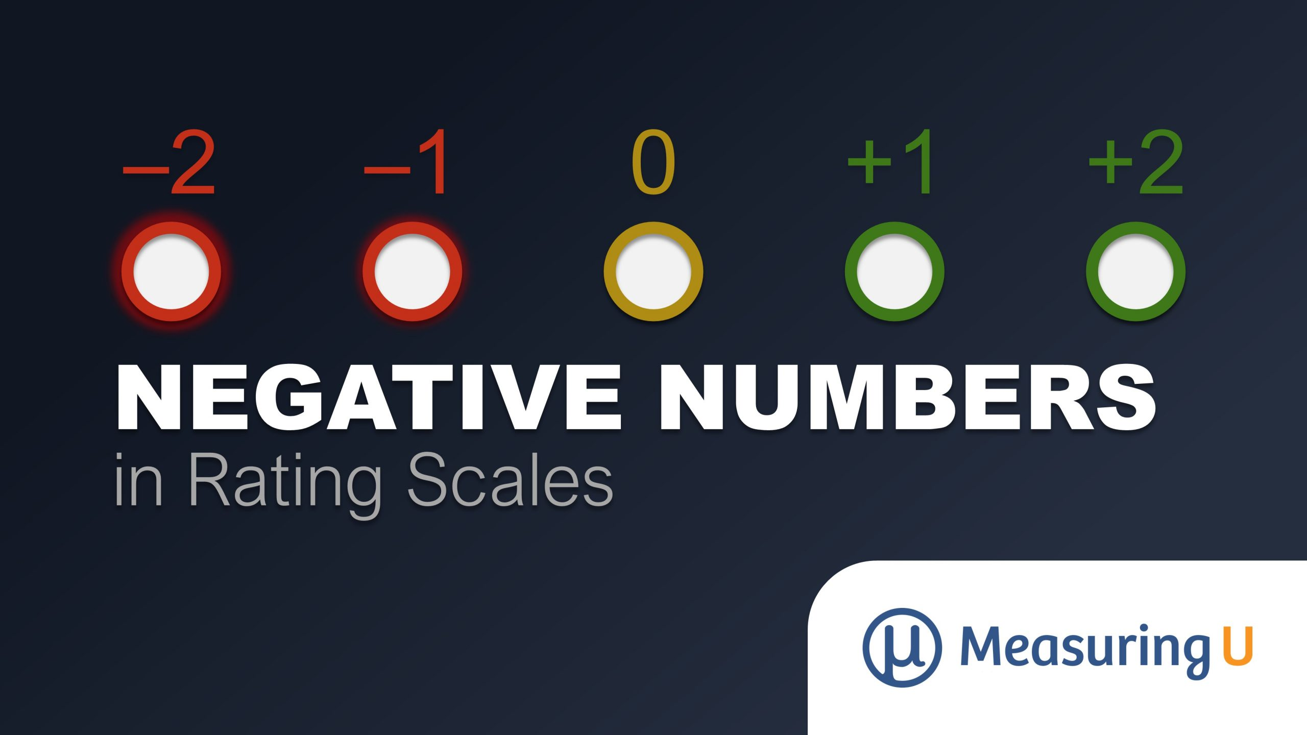 Should You Use Negative Numbers in Rating Scales?