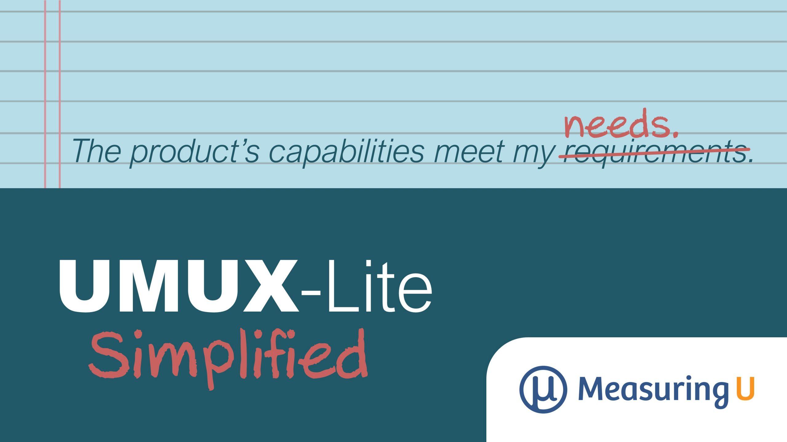 Simplifying the UMUX-Lite