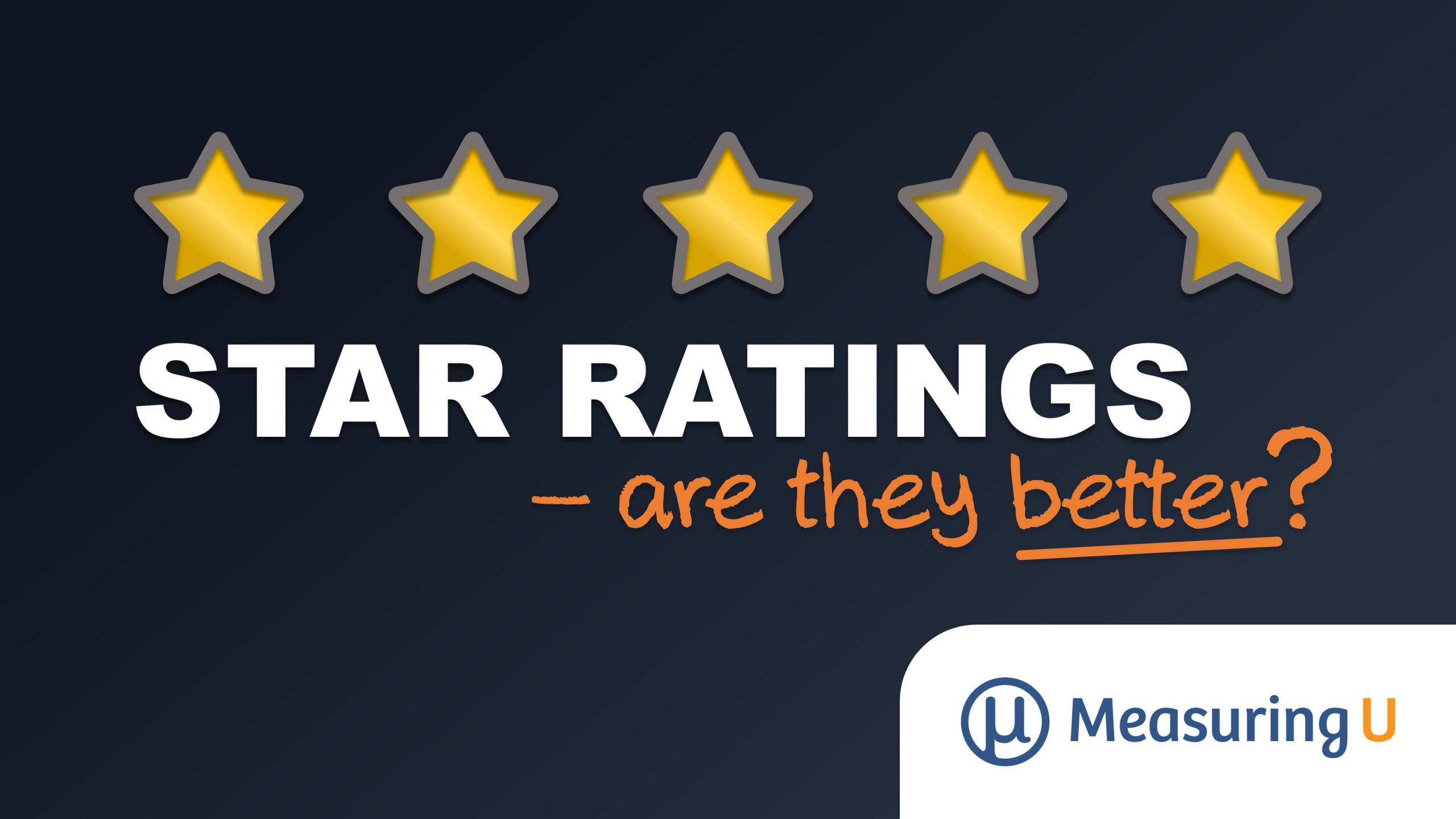 Are Star Ratings Better Than Numbered Scales?