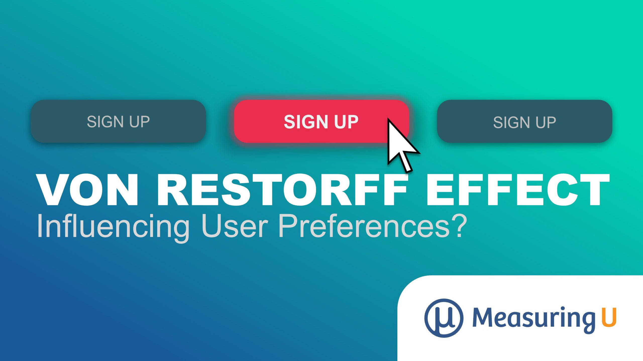 Does the Von Restorff Effect Influence User Preference?