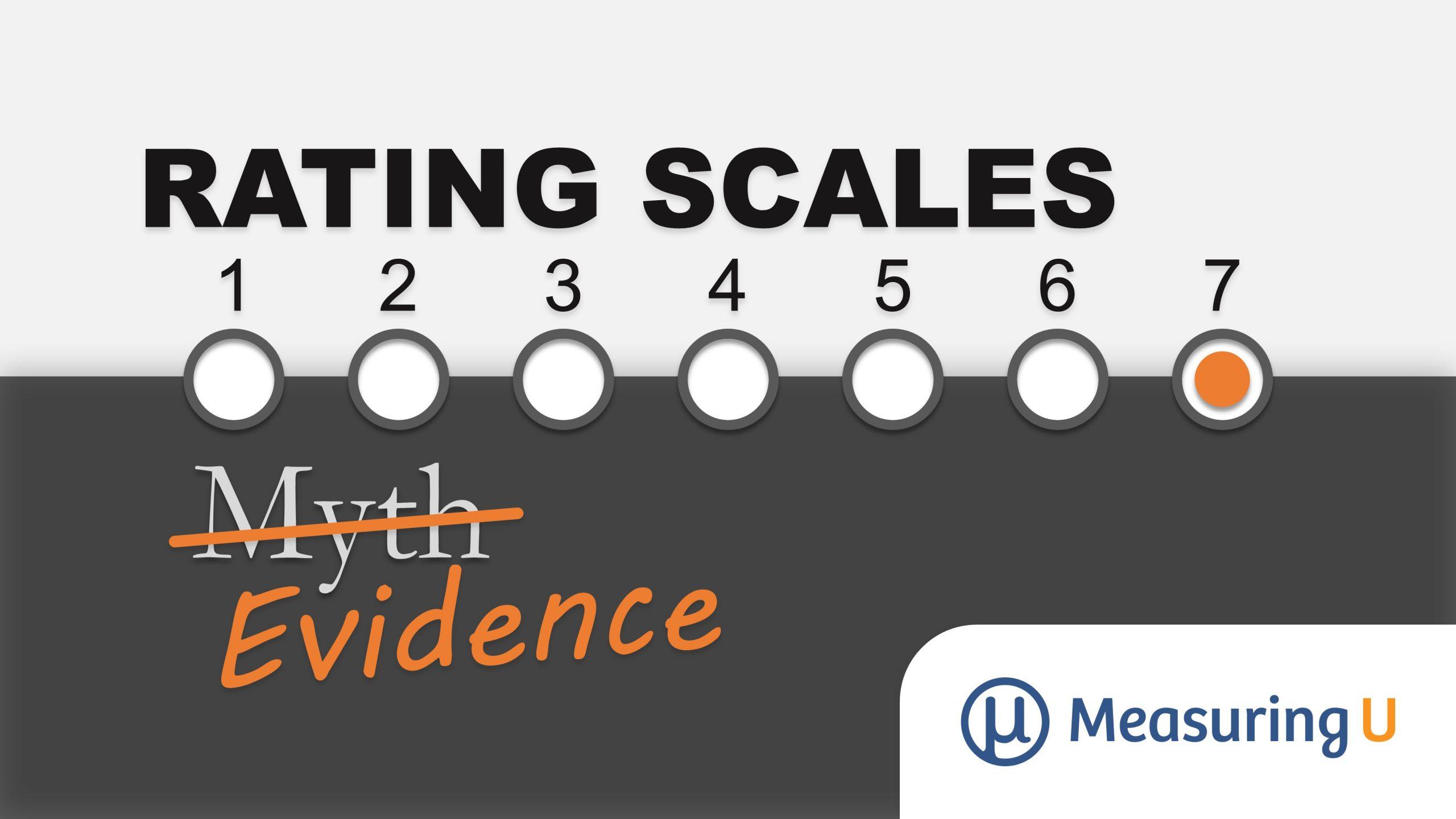 Rating Scales: Myth vs. Evidence