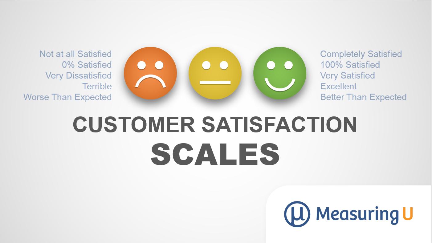 Five Scales to Measure Customer Satisfaction
