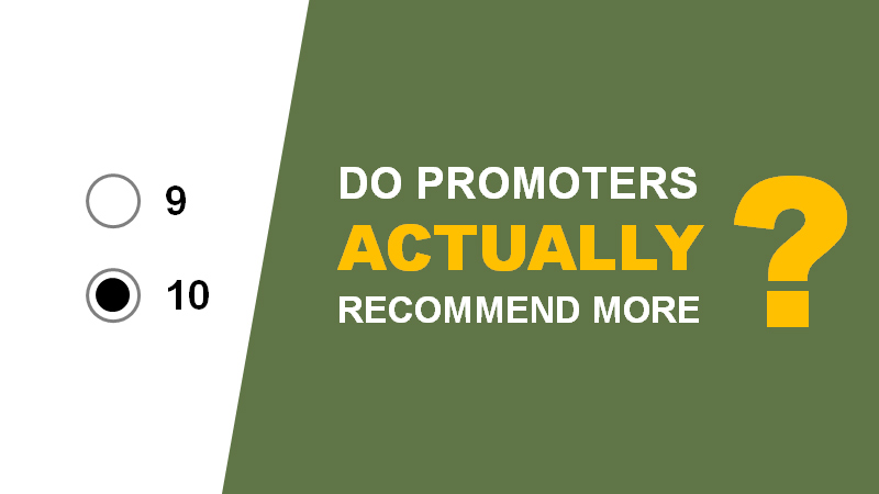 Do Promoters Actually Recommend More? A Longitudinal Analysis