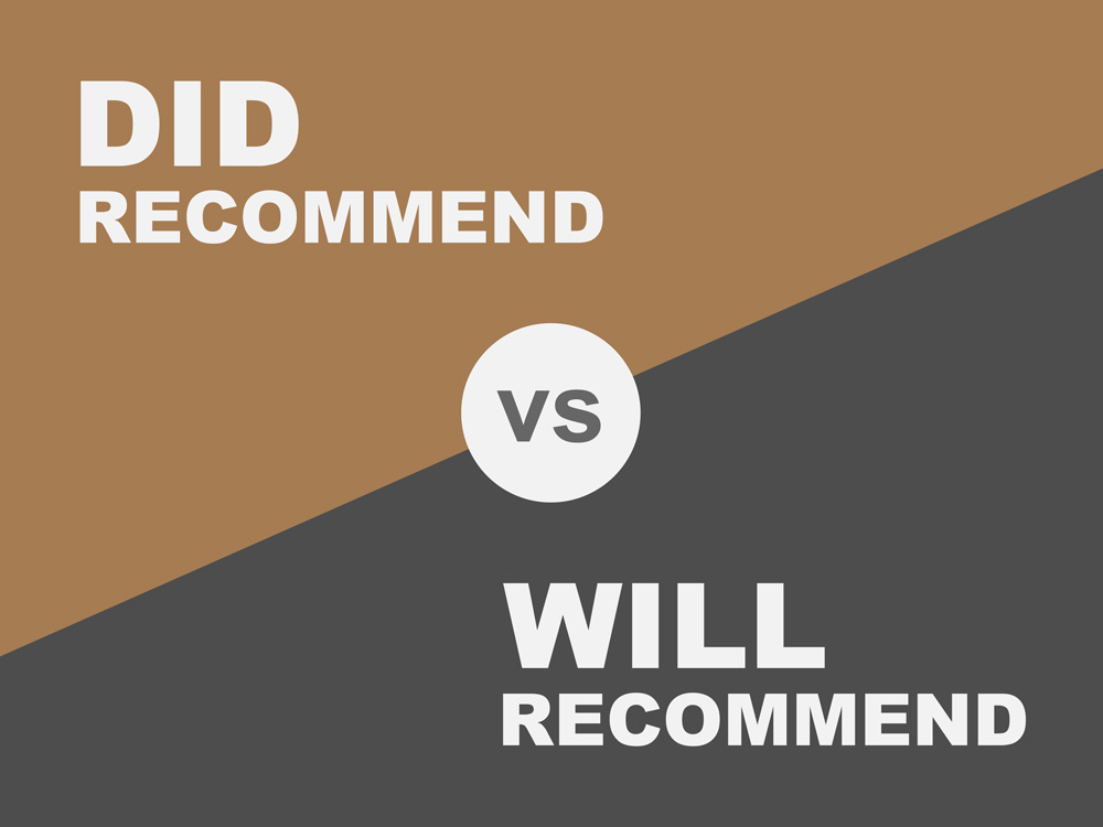 How Does Did Recommend Differ from Likely to Recommend?