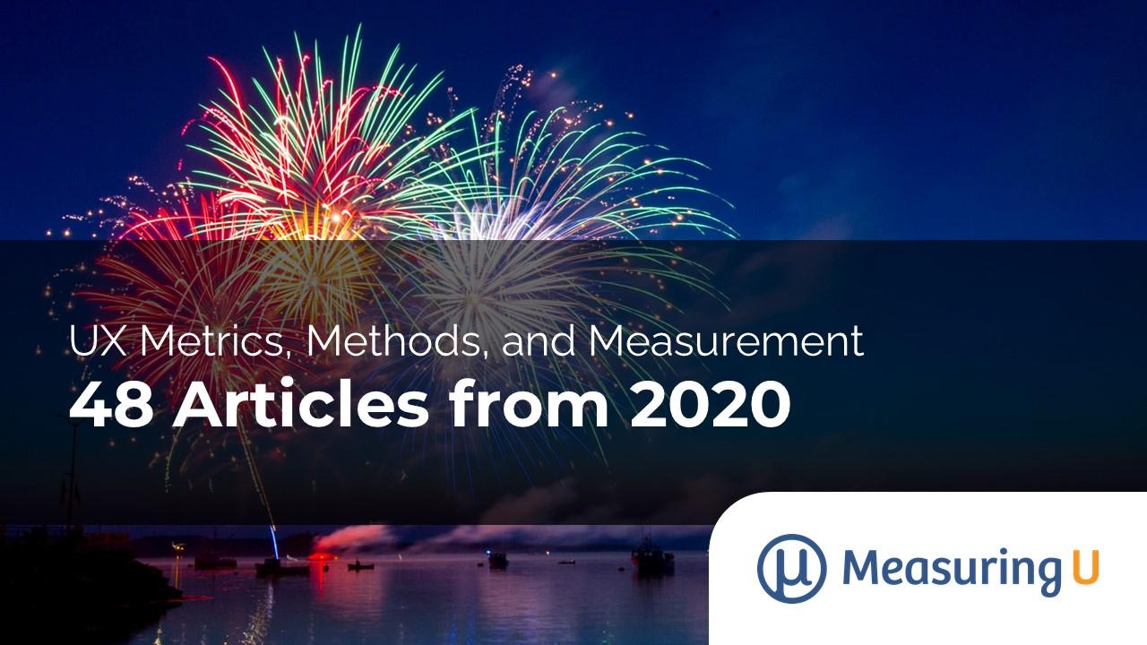 48 UX Metrics, Methods, & Measurement Articles from 2020