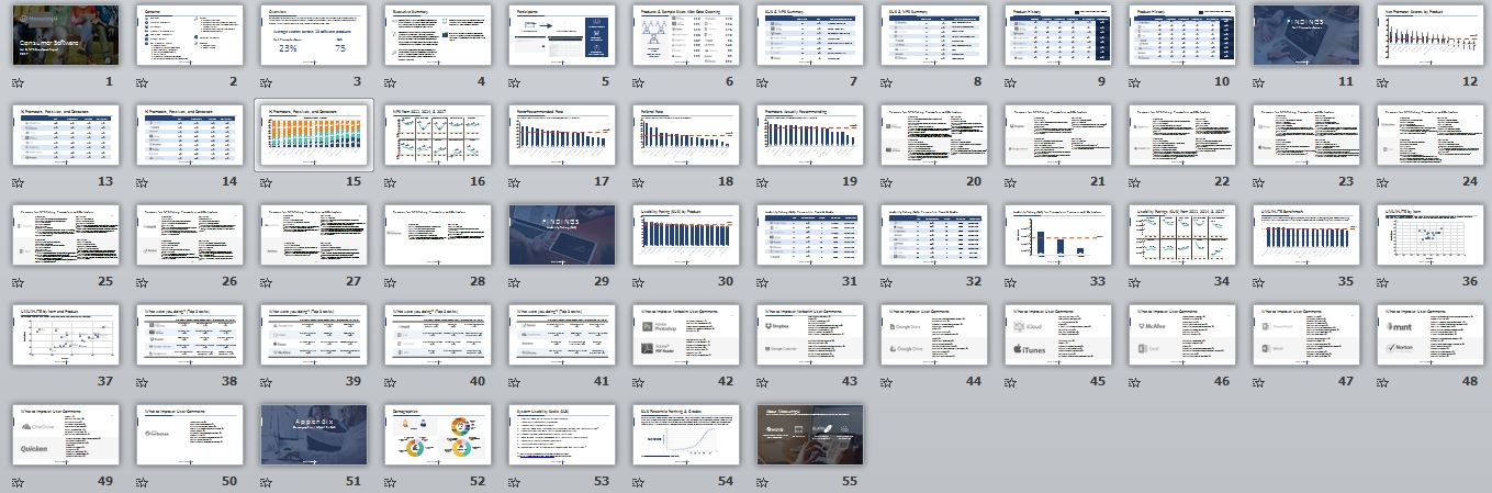 Net Promoter & UX Benchmark Report for Consumer Software (2017)