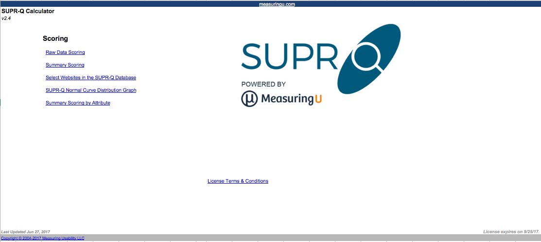 SUPR-Q Full License