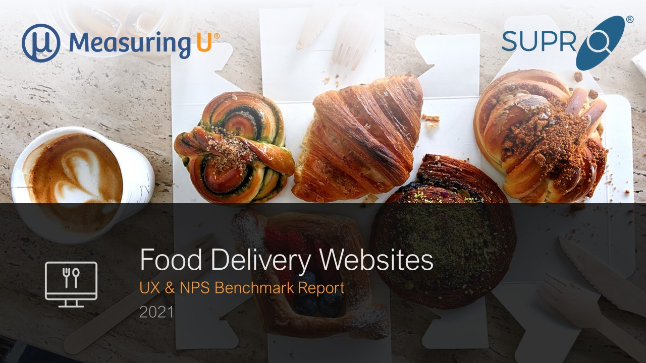 UX & NPS Benchmark Report for Food Delivery Websites (2021)