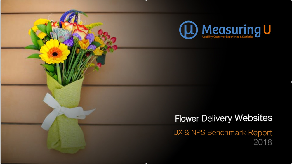 UX & Net Promoter Benchmark Report for Flower Websites