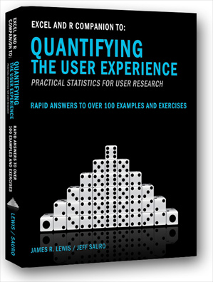 Excel and R Companion Book to Quantifying the User Experience (2nd Ed)