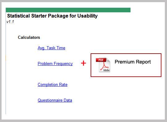 Quantitative Starter Package for Usability Testing