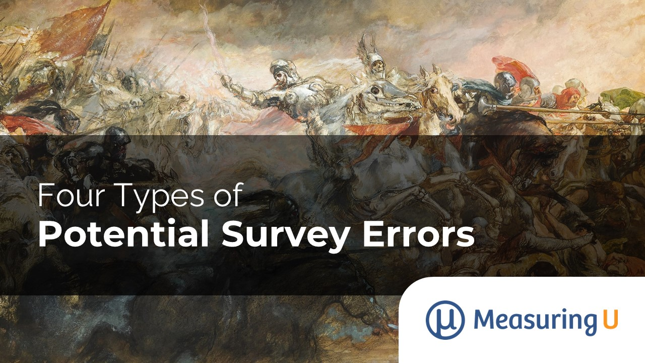 Four Types of Potential Survey Errors