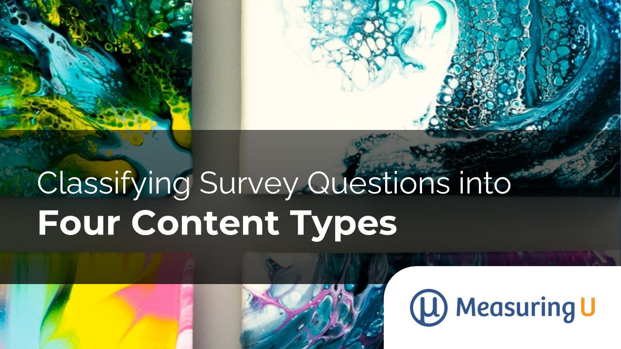 Classifying Survey Questions into Four Content Types