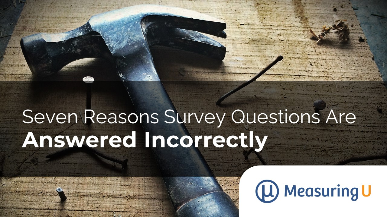 Seven Reasons Survey Questions Are Answered Incorrectly