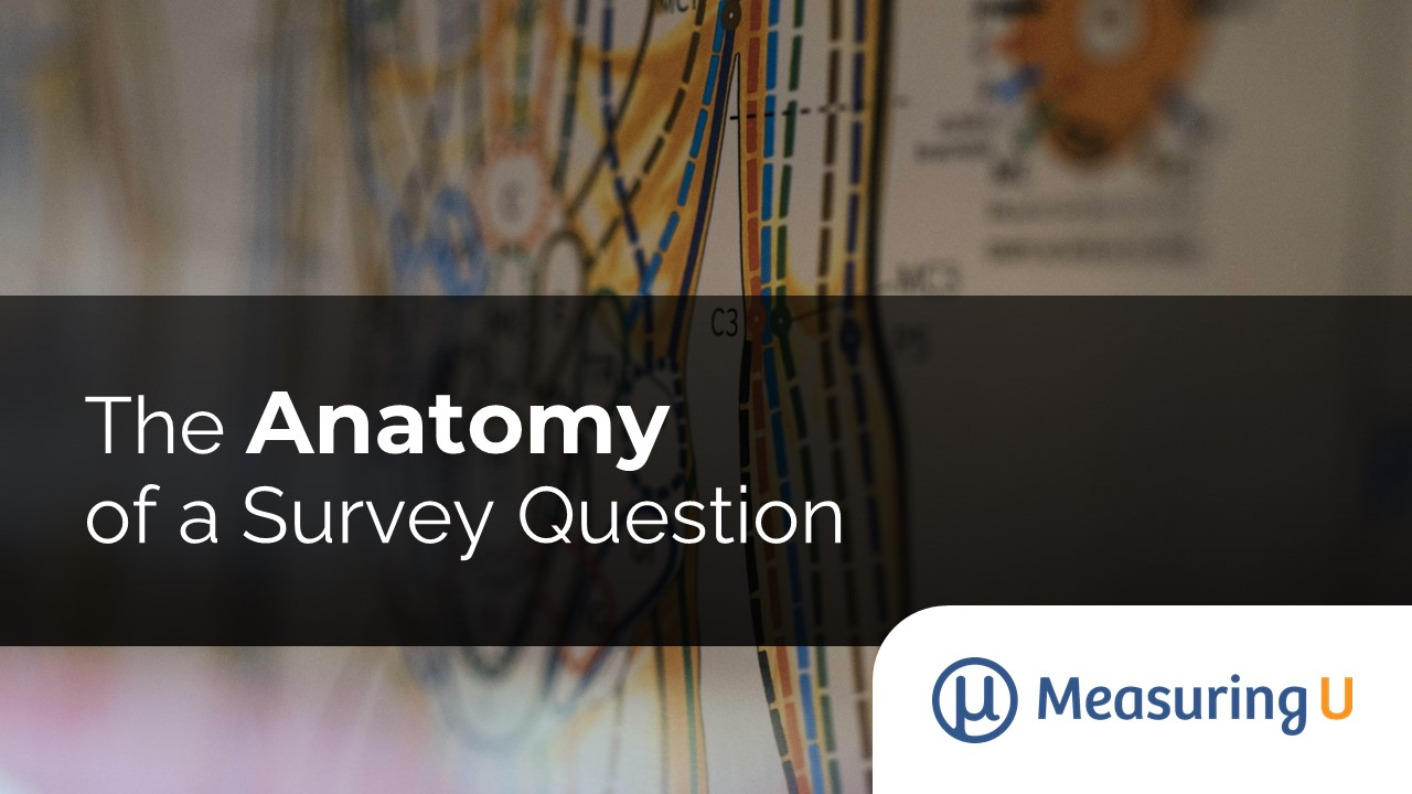 The Anatomy of a Survey Question