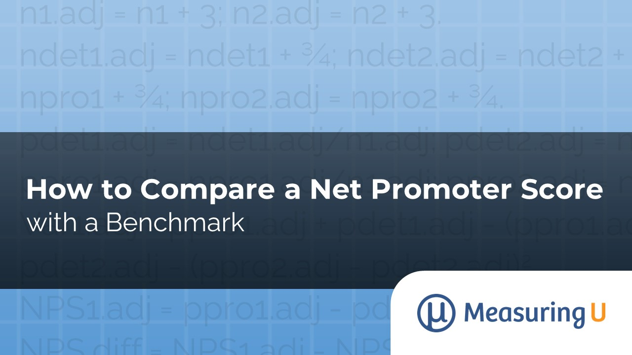How to Compare a Net Promoter Score with a Benchmark