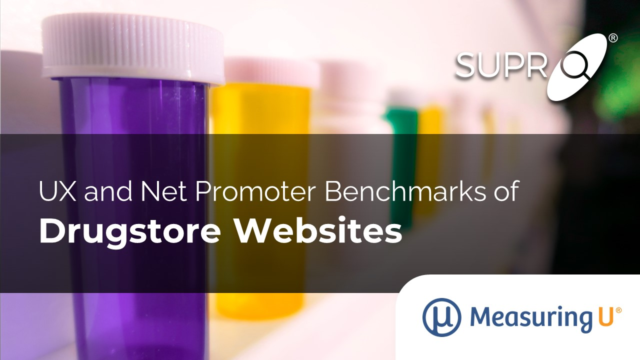 UX and Net Promoter Benchmarks of Drugstore Websites