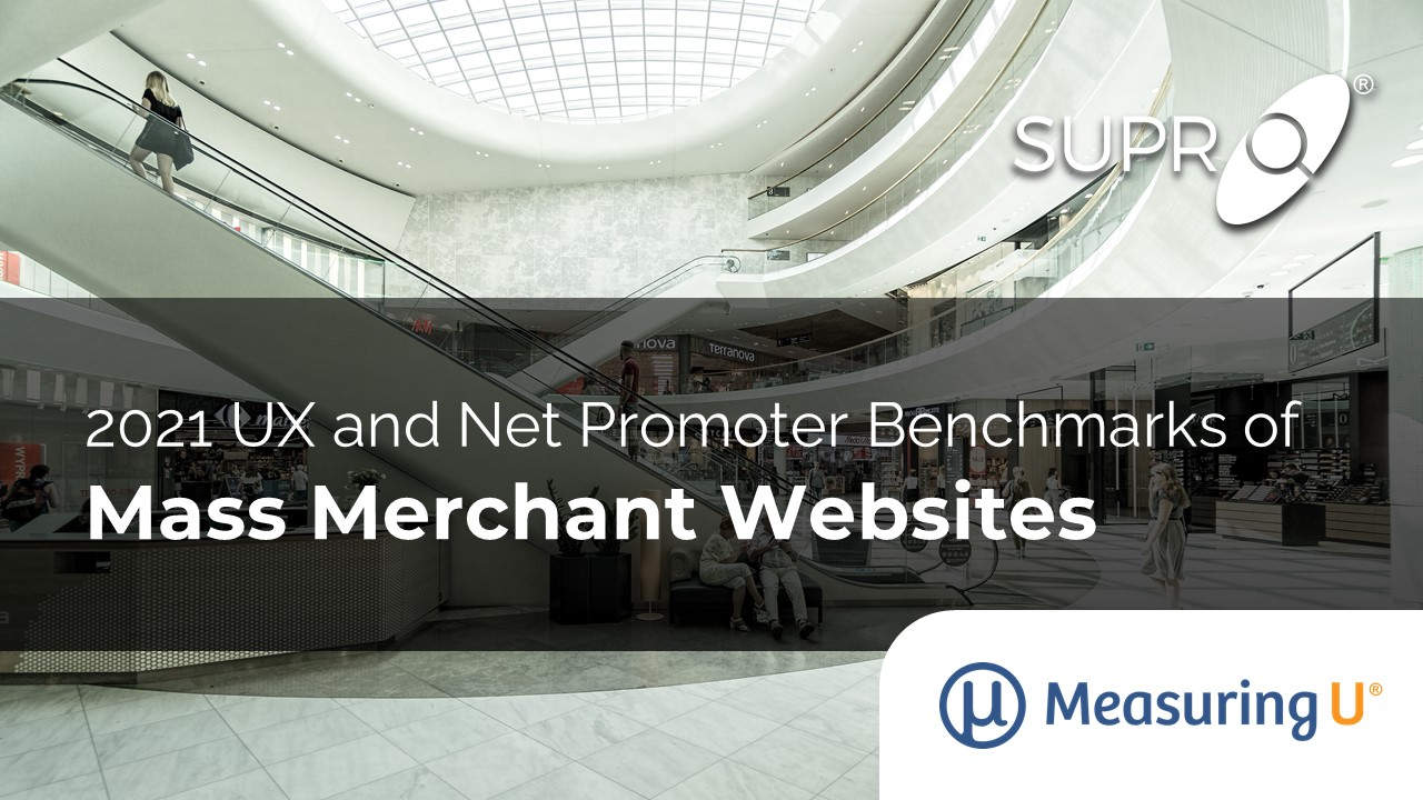 UX and Net Promoter Benchmarks of Mass Merchant Websites